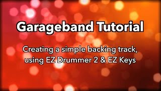 Making backing tracks with GB & Toontrack