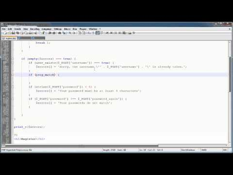 PHP Tutorials: Register &amp; Login (Part 10): Registration Form and Validation (Part 3)