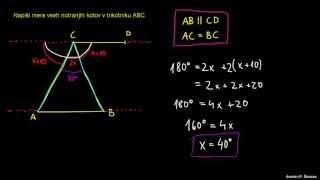 Naloga 1 – ugotavljanje kotov v trikotniku
