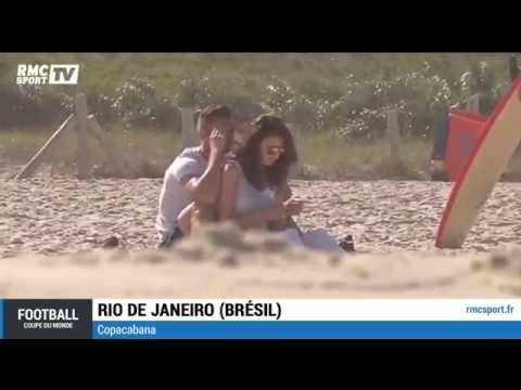 Football / Olivier Giroud à la plage avec sa femme - 26/06