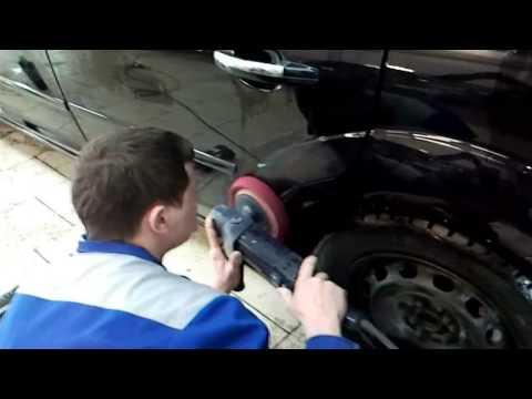 Полировка машины видео
