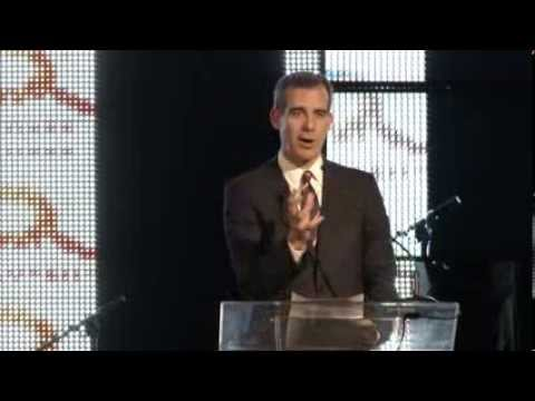Mayor Eric Garcetti Speaks at DiscoverMe 2014 to Leaders in Technology, Finance, and Media.