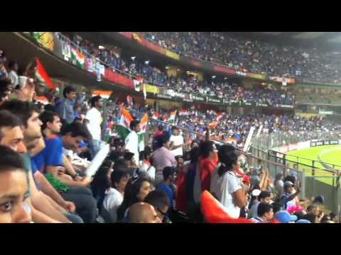 Last few balls for the historic win for India ICC World Cup 2011! Wankhede Stadium (HD)