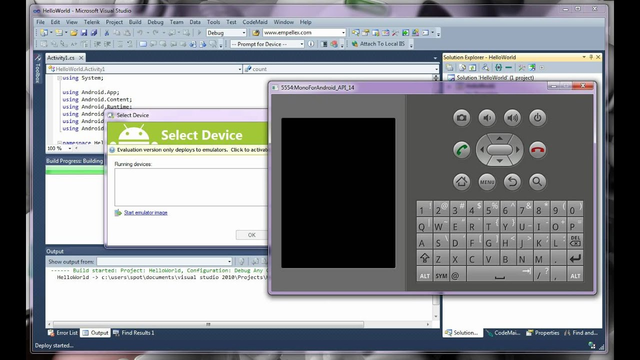 Mono for Android Application Development: Hello World - YouTube