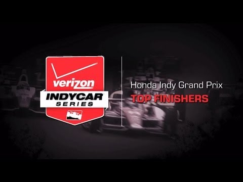 2014 Honda Indy Grand Prix: Top Finishers