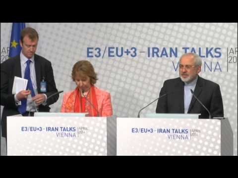 Catherine Ashton at the E3+3 negotiations with Iran: Press Conference