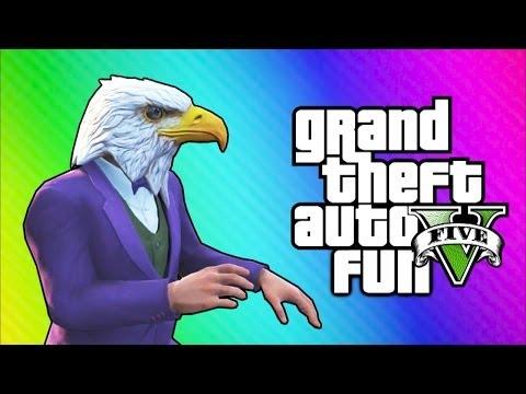 GTA 5 Online Funny Moments - Air Walk Glitch, Faggio Cop Glitch, Beer Hat Crate!