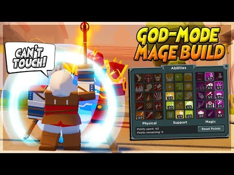 the BEST MAGE BUILD *OP GODMODE MAGE!* ON *NEW DUNGEON GAME* ADVENTURE UP ROBLOX