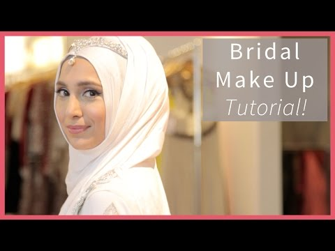 BRIDAL MAKEUP TUTORIAL FOR WHITE DRESS