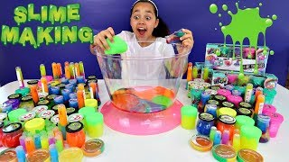Mixing All My Slimes! DIY Giant Slime Smoothie | Toys AndMe