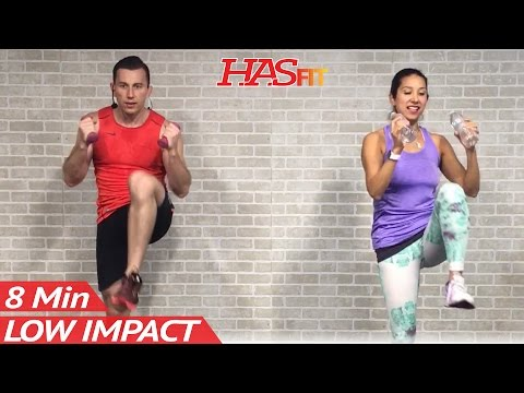 8 Min Low Impact Cardio Workout for Beginners - Easy Workouts at Home HIIT Beginner Workouts Routine
