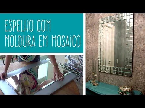 MULTIFIX FIXA ESPELHO - DIY: Espelho com moldura em mosaico