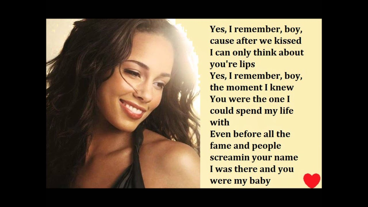 Usher ft alicia keys my boo lyrics