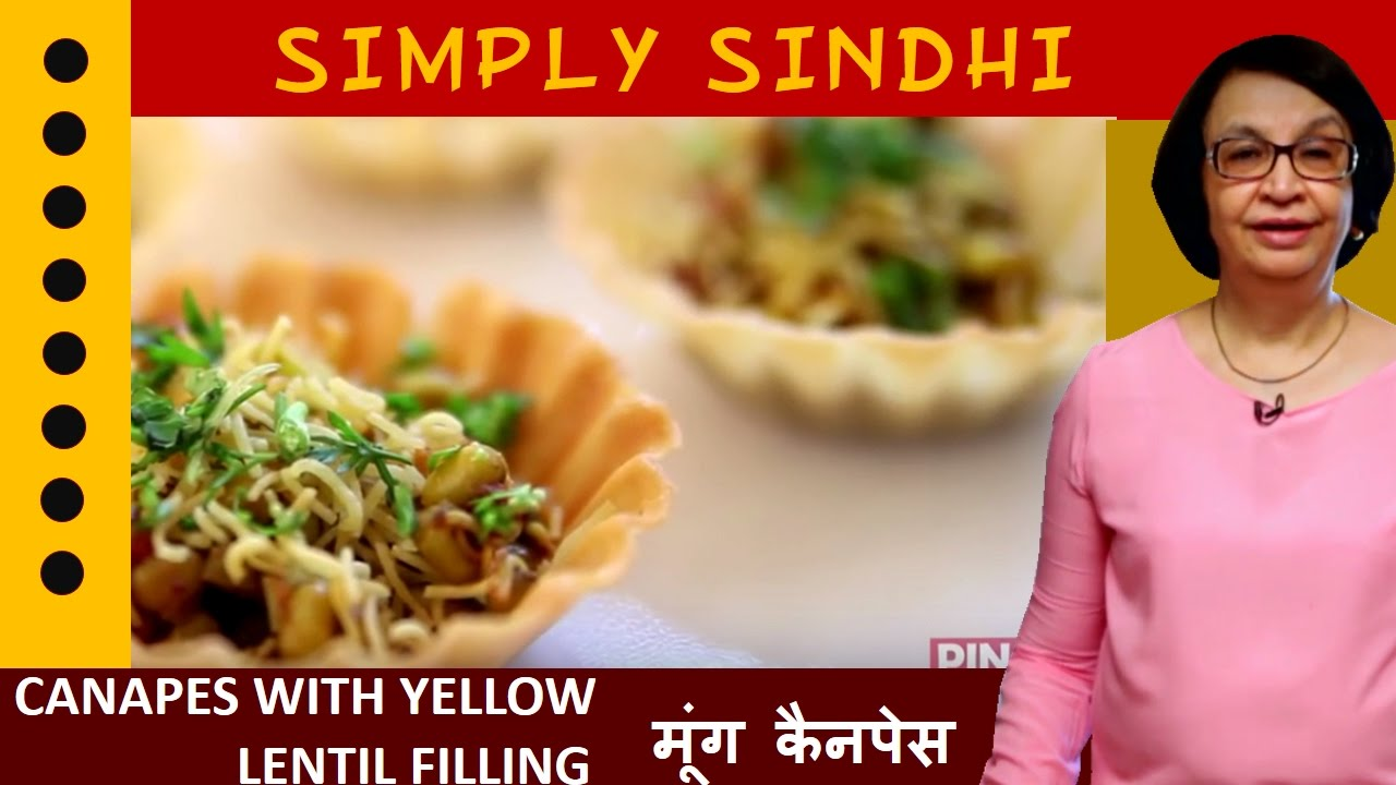 Best canapes with yellow lentil filling moong by veena for Canape fillings indian