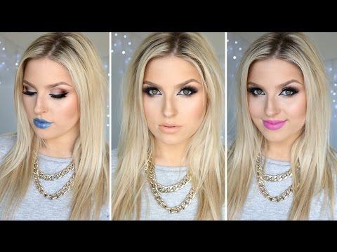 Easy & Sexy Cat Eye Makeup ♡ Plus 3 Lip Options! Tutorial
