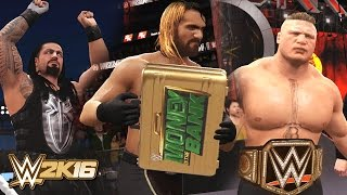 WWE 2K16 - Seth Rollins Cashes in MITB at Wrestlemania 31