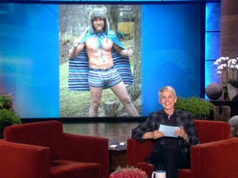Chris Pratt in Ellen underwear on Ellen