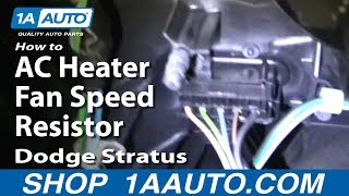 How To Fix AC Heater Fan Speed Resistor Dodge Stratus 01