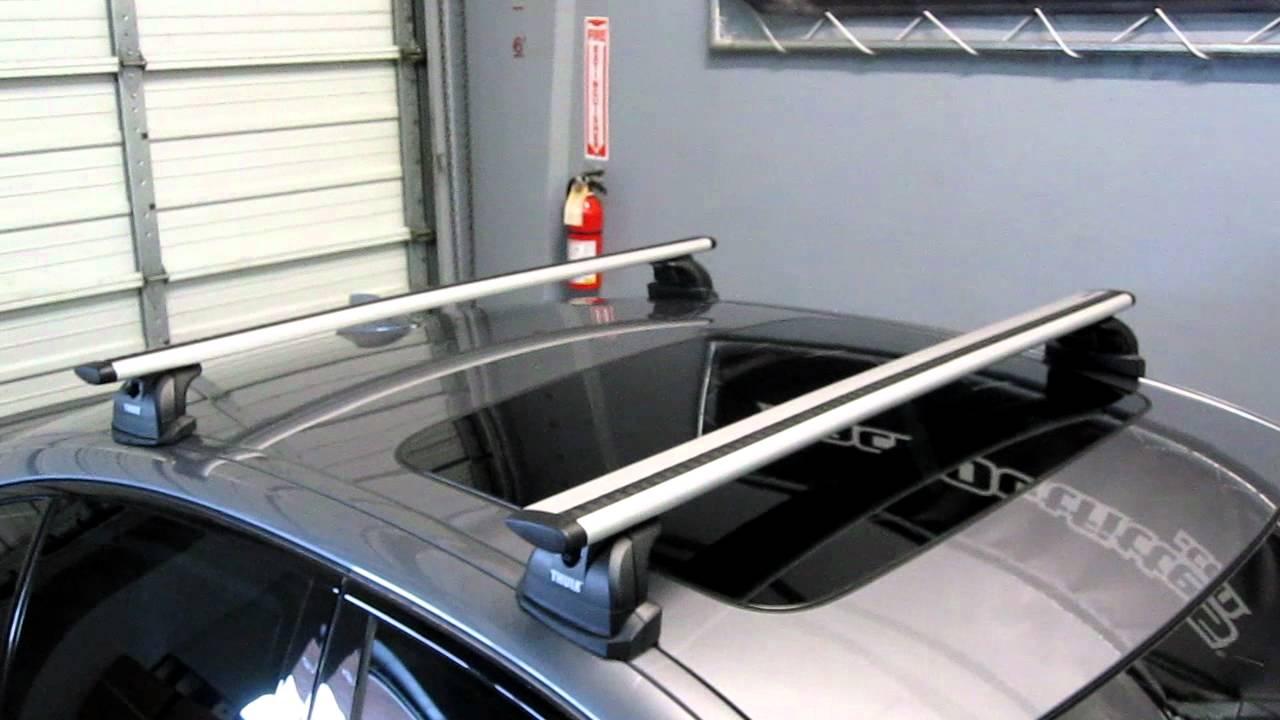 Bmw 5 Series Sedan With Thule 460r Podium Aeroblade Base