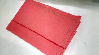 how to make a handkerchief into a pocket square
