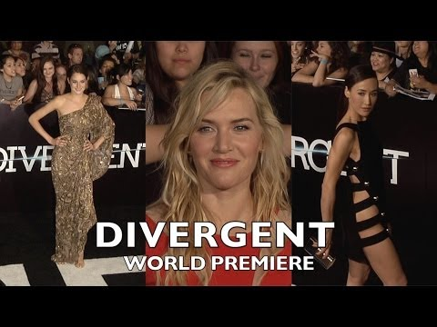 DIVERGENT World Premiere Shailene Woodley, Theo James, Ashley Judd, Kate Winslet