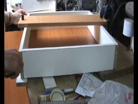 Caj n a medida para mueble de cocina con frentes for Medidas de cocina