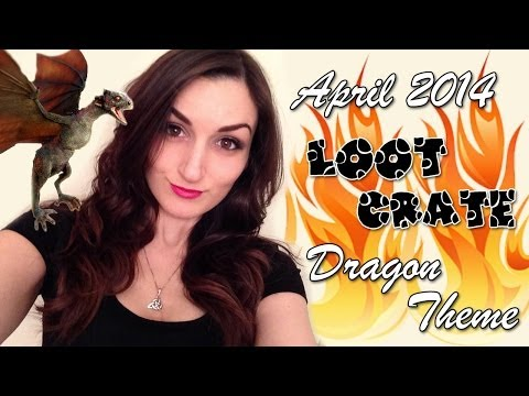 Funny Loot Crate Unboxing: April 2014 Dragon Theme w/ Puppy Co-Host