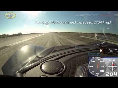 Siêu xe nhanh nhất thế giới tốc độ 435 km/h Hennessey Venom GT