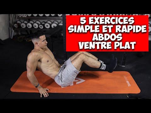 5 exercices Abdos Ventre plat rapide et facile !