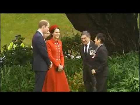William and Kate Arrives in New Zealand, Rubs Nose with Maori Elders