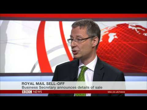 Stephen Gibson from SLG Economics Ltd discusses Royal Mail privatisation on BBC News