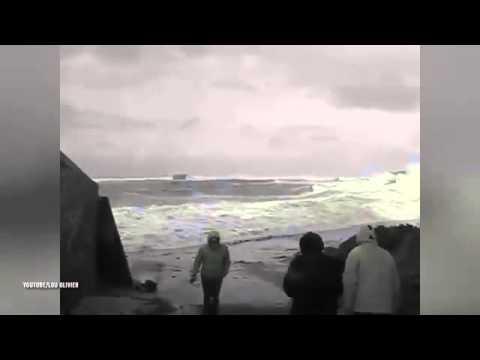 زوجان عجوزان ينجوان بأعجوبة بعد أن جرفتهما موجة عاتية