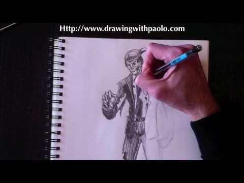 Dessiner un zombie avec paolo morrone youtube - Dessiner un faucon ...