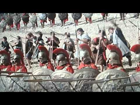 300 Spartans ( 1962 ) Epic spear fail . MY LIP A-HOLE!!