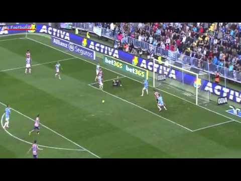 Koke Goal vs Malaga ~ Malaga 0 ~ 1  Atletico Madrid HD