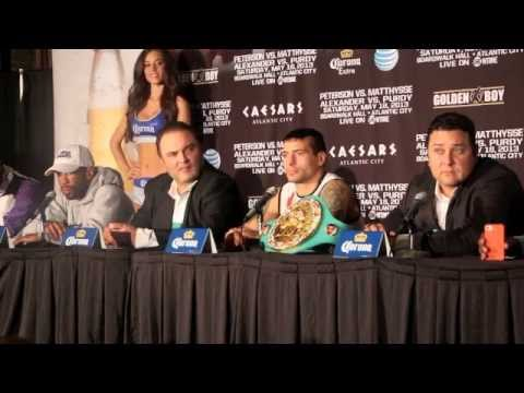 LAMONT PETERSON v LUCAS MATTHYSSE POST FIGHT PRESS CONFERENCE / BOARDWALK HALL