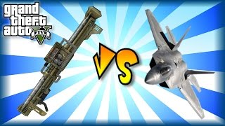 GTA 5 Homing Missile Launcher VS Lazer Fighter Jet (P