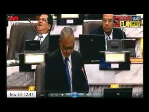 Sidang Dun Selangor 2013 - YB Sekinchan Bangun Bila Di Sebut Tentang Rumah Urut