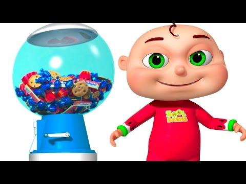 Five Little Babies Playing Ball Machine   Zool Babies Fun Songs   Surprise Ball Machine For Kids