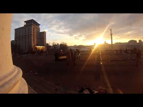Sniper shot an unarmed man in Kiev