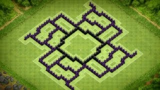 Clash Of Clans Epic Town Hall 8 Anti Hog Trophy Base