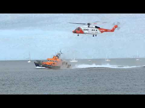 Rescue helicopter training IRISH COAST GUARD