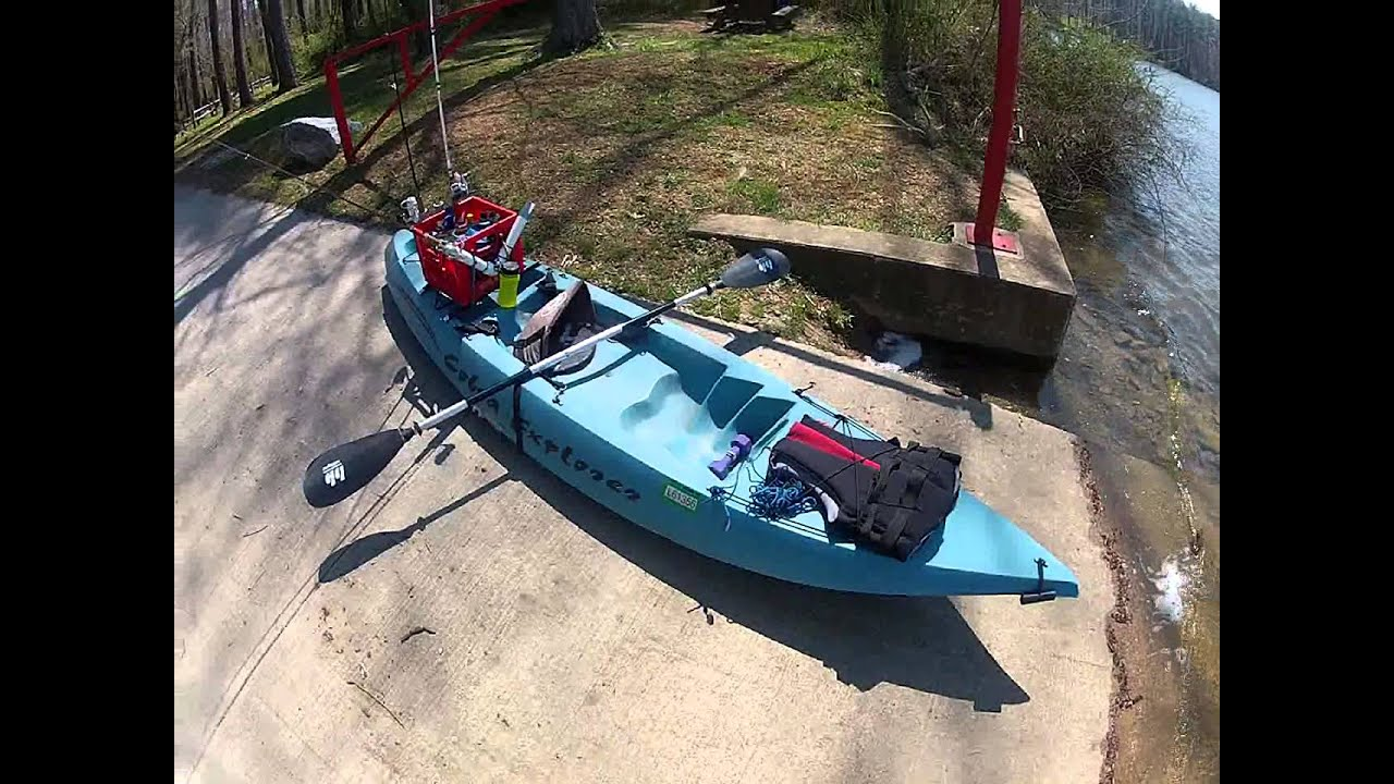 Kayak fishing setup youtube for Fishing canoe setup