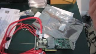 LSI 9260-8i SATA3 SAS 6Gb/s PCIe 2.0 RAID Card Unboxing