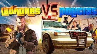 GTA V Online Policías Contra Ladrones! 15 Vs 1 Risa