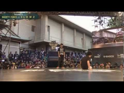 Slowz vs Shorty Force   Top 16   Red Bull BC One 2013 Asia Pacific Qualifier