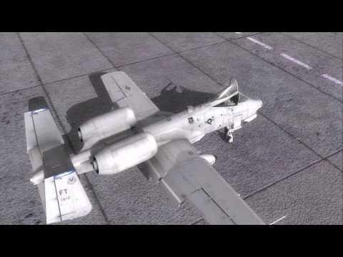 DCS: A-10C Warthog. Видео процесса запуска.