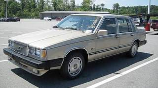 Starting Up 1987 Volvo 760 GLE w/ Brief Tour and Engine Shot
