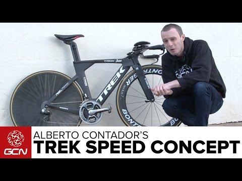 Alberto Contador's Trek Speed Concept Time Trial Bike