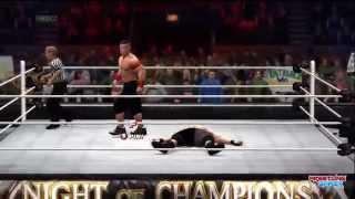 WWE Night Of Champions 2014 Brock Lesnar vs John Cena WWE World heavyweight Championship Result